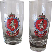 Stroh's Brewery Tasting Room Glasses