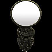 Hans Jensen Denmark Repousse Beveled Pocket Mirror