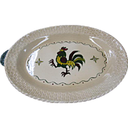 Metlox Red Rooster Turkey Platter - 22 inches !!