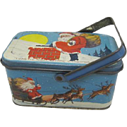 Tin Deco 'Twas the Night Before Christmas Santa mini lunch box candy tin
