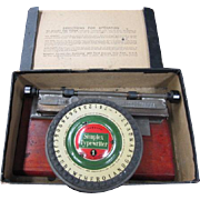 Simplex Typewriter No. 1 in original box with instructions