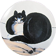 Cat collector plate The Seated Cat by Chu Ling, MMOA, Limoges