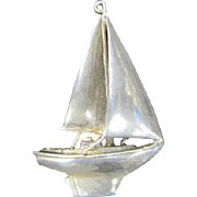 Silver Sailboat Pendant