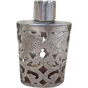 Sterling Overlay on Perfume Bottle - TAXCO