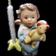 Hummel Angel with Teddy Bear Candleholder