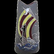 Arol Halden Viking Ship Vase - NORWAY