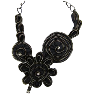 Necklace made from Zippers!!