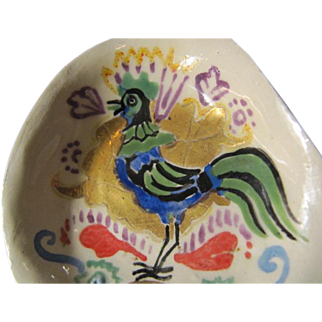 French Pin Dish, Trinket Dish, Rooster - FAIT MAIN