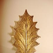 Vintage Leaf Filigree Sterling Silver Brooch