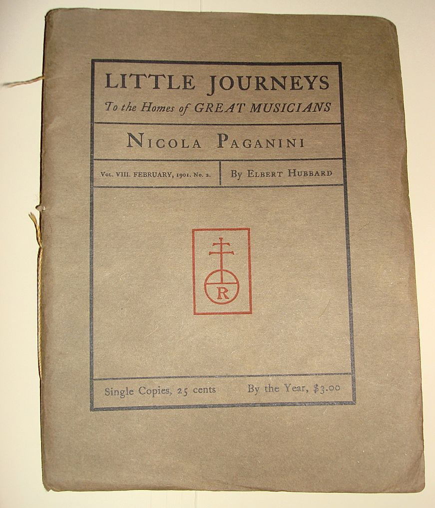 Roycroft Little Journeys Great Musicians-Nicola Paganini By Elbert Hubbard