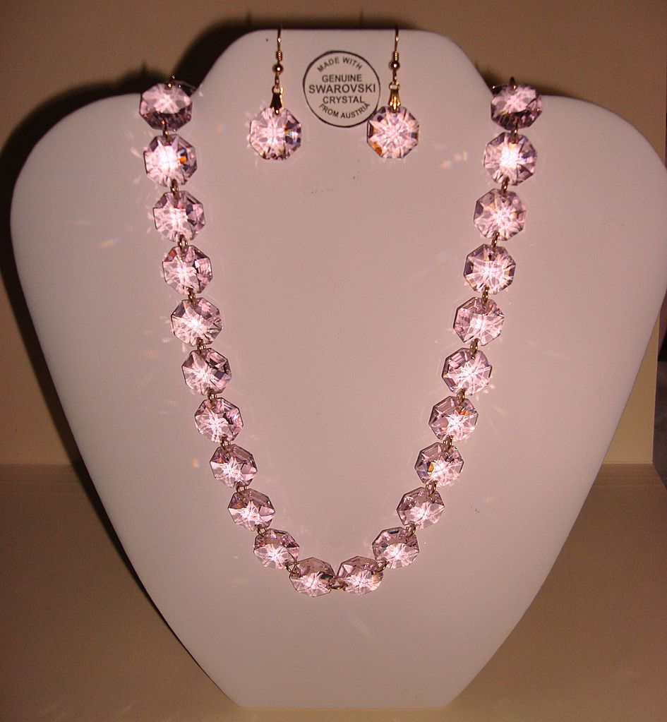 pink necklace shop swarovski crystal