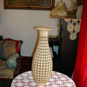 Stunning Hand Crafted South American Pottery Vase With All Hand Carved Geometrical Design