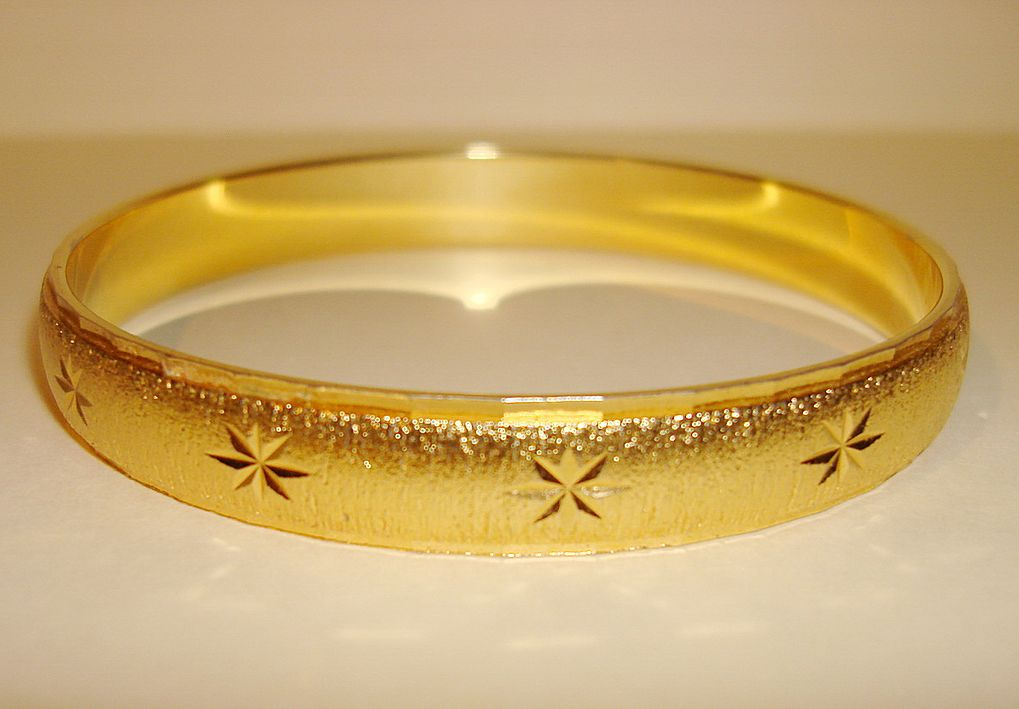 Vintage Gold Tone Monet Bangle Bracelet