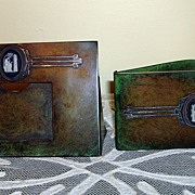 Vintage Sterling On Bronze Desk Items By Heintz Art Metal Shop-Buffalo NY
