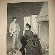 Antique Etching by Peruvian Artist Albert Lynch