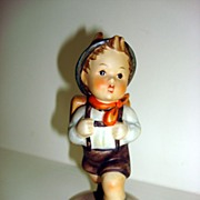 MI Hummel 82 School Boy Porcelain Figurine