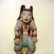 Late 18th Century Hand Carved Oriental Wooden Statue