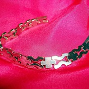 Vintage Chunky 925 Cross And H link Bracelet