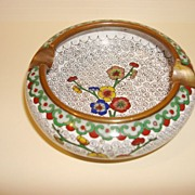 Vintage Colorful Cloisonne Ashtray