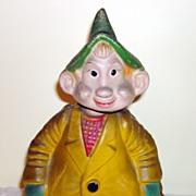 Vintage Gnome Dual Action Nodder Papier-Mache Doll