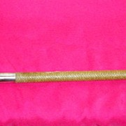 Antique English Riding Crop With Two Silver collar