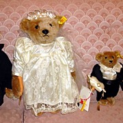 Steiff Margaret Strong- Bride, Groom, Ring Bear-er, Flower Girl Bear Collection
