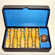 Vintage Miniature Traveling Bowling game By Kegelsport In Original Box