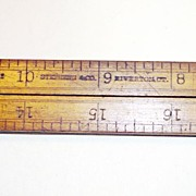 Stephens & Co. No. 42 Boxwood/Brass Folding Ruler-Riverton, CT