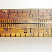 Vintage Lufkin No. 982 Boxwood/Brass Folding Ruler