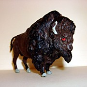 Britain Ltd England Hard Plastic Bison Toy