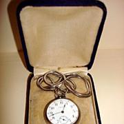 Vintage Waltham Sterling Silver Open Face Pocket Watch