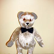 Vintage Blechschmidt German Silver/Gray Mohair Bear