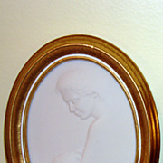 1981 Framed Goebel Porcelain Plaque By Irene Spencer