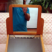 Art Deco Optical Wooden Display Case