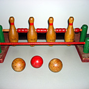 Folk Art Wooden Bowling Game