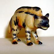Miniature Hand Painted Porcelain Hyena-Germany
