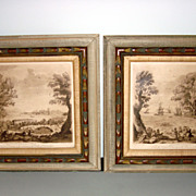 Original Old Engraving Pastorale By Earlom After Claude Lorraine