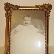 Vintage Highly Decorated Picture Metal Frame