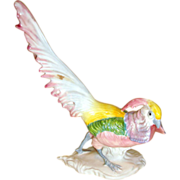 Vintage Staffordshire-England Exotic Porcelain Bird