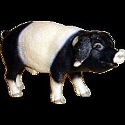 Vintage Rubber Farm Pig Figurine - Germany