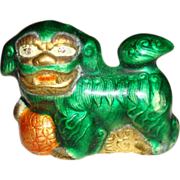 Chinese Miniature Enamel Porcelain Foo Dog
