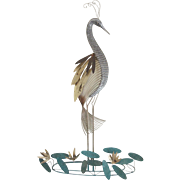Vintage 1978 Curtis Jere Metal Sculpture Paradise Bird
