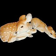 Russian Lomonosov Porcelain Deer Figurines