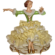 Dresden Germany Porcelain Lace Figurine