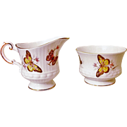 Rosina China Co. Ltd - England - Queen's Creamer & Sugar Bowl