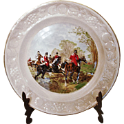 Royal Worcester Palissy-The Famous Henry Hunting Scenes Plate-Off The Draw