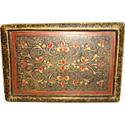 Antique Engraved And Enamel Metal Box