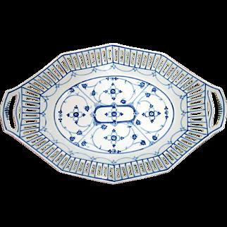 Vintage German Open Lace Border Porcelain Dish