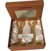 Amber Shimmer Crystal Candlestick By Oleg Cassini