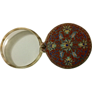 Vintage Chinese cloisonné Magnifying Glass